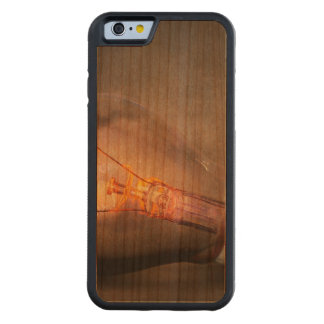 Glowing Light Bulb Cracked Glass Smoke Photo Carved® Cherry iPhone 6 Bumper Case