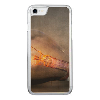 Glowing Light Bulb Cracked Glass Smoke Photo Carved iPhone 7 Case
