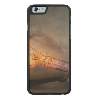 Glowing Light Bulb Cracked Glass Smoke Photo Carved® Maple iPhone 6 Slim Case