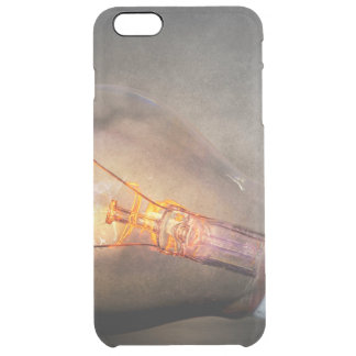 Glowing Light Bulb Cracked Glass Smoke Photo Clear iPhone 6 Plus Case