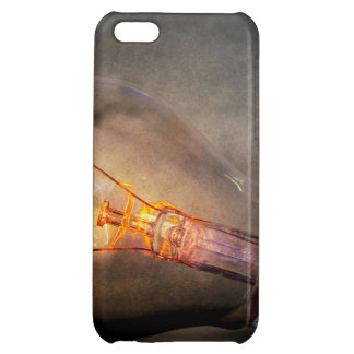 Glowing Light Bulb Cracked Glass Smoke Photo Cover For iPhone 5C