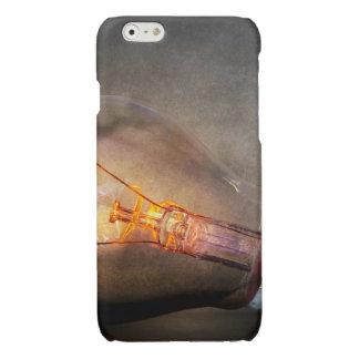 Glowing Light Bulb Cracked Glass Smoke Photo Glossy iPhone 6 Case