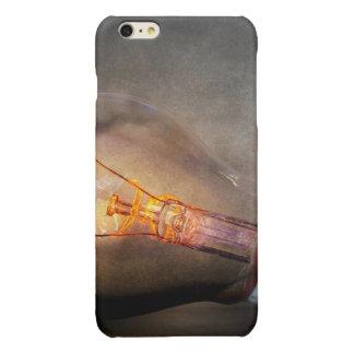 Glowing Light Bulb Cracked Glass Smoke Photo Glossy iPhone 6 Plus Case