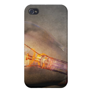 Glowing Light Bulb Cracked Glass Smoke Photo iPhone 4/4S Covers