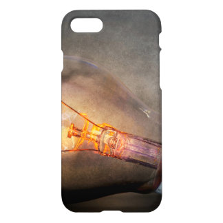 Glowing Light Bulb Cracked Glass Smoke Photo iPhone 7 Case