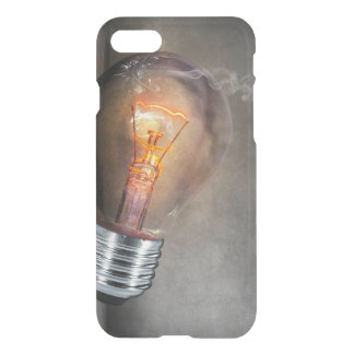 Glowing Light Bulb Cracked Glass Smoke Photo iPhone 8/7 Case