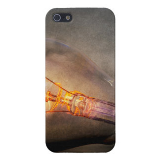 Glowing Light Bulb Cracked Glass Smoke Photo iPhone SE/5/5s Cover