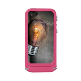 Glowing Light Bulb Cracked Glass Smoke Photo Waterproof iPhone SE/5/5s Case