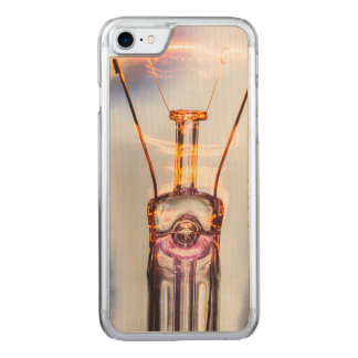 Glowing Light Bulb Photo Carved iPhone 7 Case