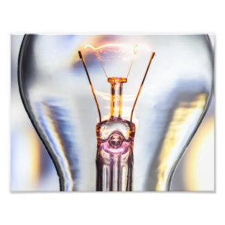 Glowing Light Bulb Photo