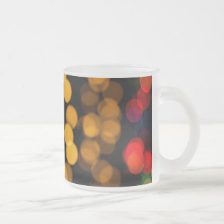 Glowing Light Pattern Frosted Glass Coffee Mug