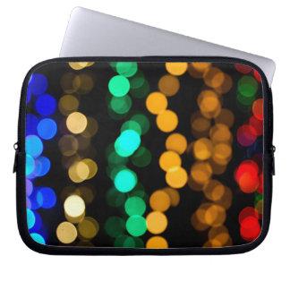Glowing Light Pattern Laptop Sleeve