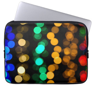 Glowing Light Pattern Computer Sleeve