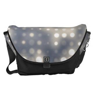 Glowing Light Polka Dot Pattern Courier Bag
