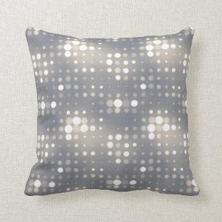 Glowing Light Polka Dot Pattern Throw Pillow