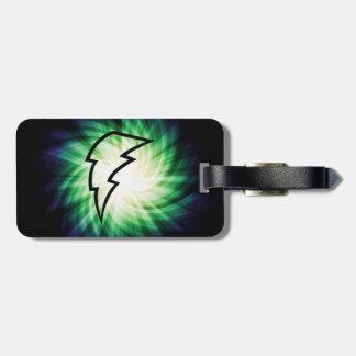 Glowing Lightning Bolt Luggage Tag