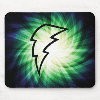 Glowing Lightning Bolt Mouse Pads