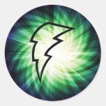 Glowing Lightning Bolt Stickers
