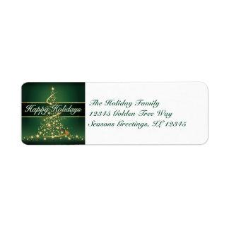 Glowing Lights Happy Holidays Address Label