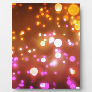 Glowing lights plaque