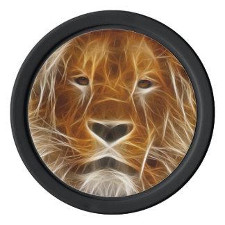 Glowing Lion Poker Chip Set Of Poker Chips