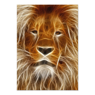 Glowing Lion Portrait Card