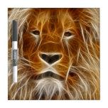 Glowing Lion Portrait Dry-Erase Whiteboards