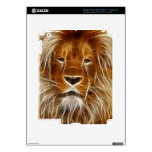 Glowing Lion Portrait iPad 3 Decal
