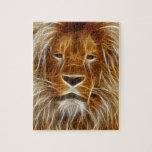 Glowing Lion Portrait Jigsaw Puzzle