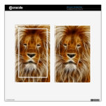 Glowing Lion Portrait Kindle Fire Decal