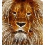 Glowing Lion Portrait Photo Cut Out
