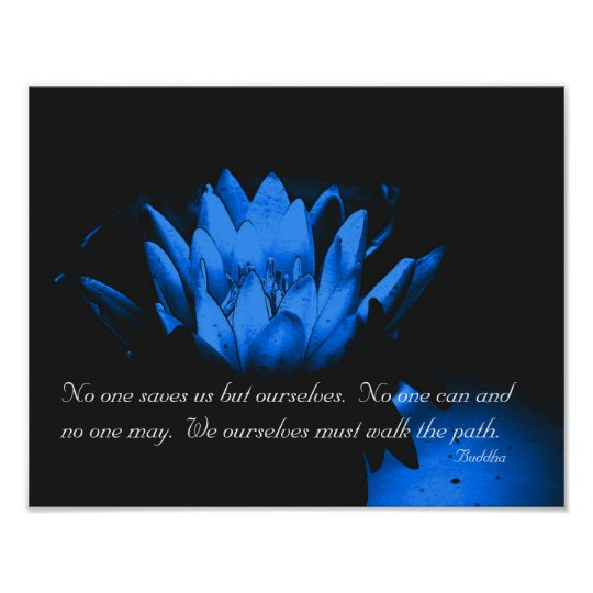 Glowing Lotus Flower Inspirational Quote Poster