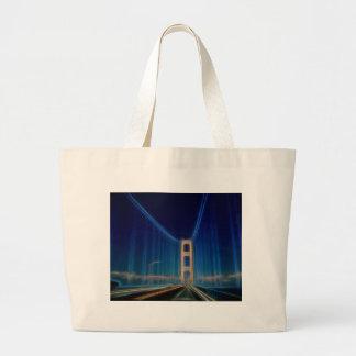 Glowing Mackinac Bridge Jumbo Tote Bag