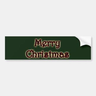 Glowing Merry Christmas Bumper Sticker