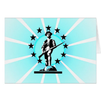 Glowing Minuteman Card
