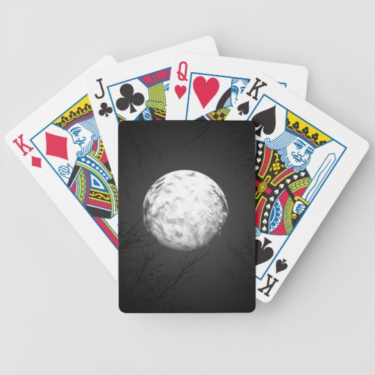 Glowing Moon Bicycle Playing Cards