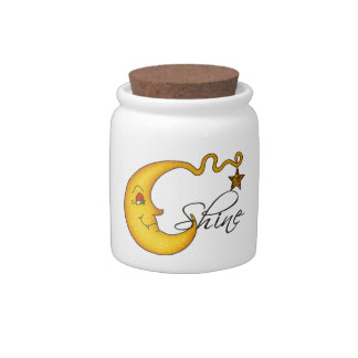 Glowing MoonShine With Star Candy Jar
