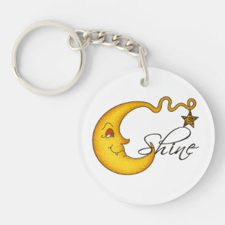 Glowing MoonShine With Star Keychain