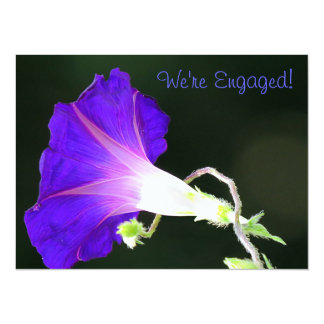 Glowing Morning Glory Engagement Party 5.5x7.5 Paper Invitation Card