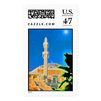 Glowing Mosque Postage