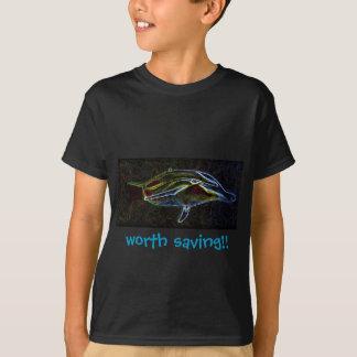 Glowing Neon Dolphin kids tshirt