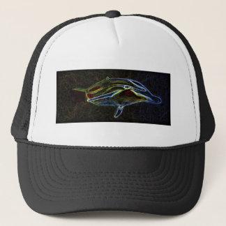 Glowing Neon Dolphin truckers cap