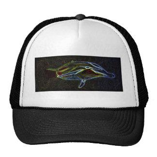 Glowing Neon Dolphin truckers cap Trucker Hats