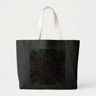 Glowing Neon Green & Red Ladies Tote Canvas Bags
