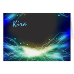 Glowing Neon Stars Bar Bat Mitzvah Thank You card