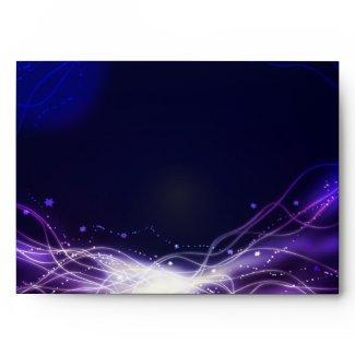 Glowing Neon Stars Bat Mitzvah Envelope Purple envelope