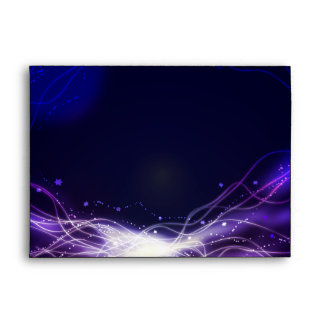 Glowing Neon Stars Bat Mitzvah Envelope Purple