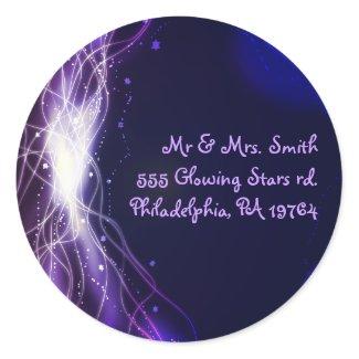 Glowing Neon Stars Bat Mitzvah Retern Sticker Seal sticker