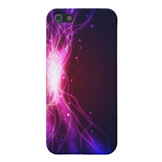 GLOWING NEON STARS PINK IPHONE 5 CASE