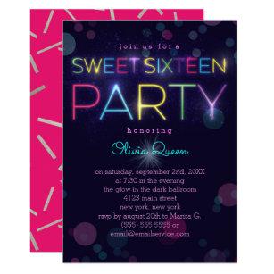 Glow Party Invitations Announcements Zazzle
